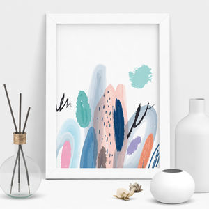 Springtime Abstract Art Print - modern & abstract