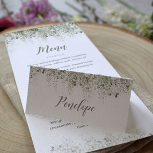 'Whimsical Windsor' Wedding Place Cards