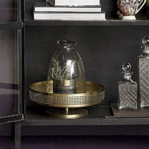 Brass Coloured Bowl On Base - dining room