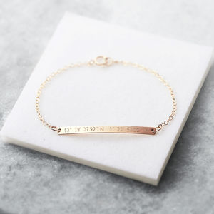 Personalised Skinny Bar Bracelet - personalised mother's day gifts