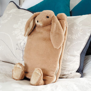 Brown Bunny Hot Water Bottle Cover/Pj Case - bedroom