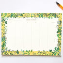 Floral Weekly Planner Notepad