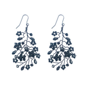 Black Chandelier Earrings - earrings