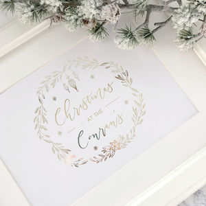 Christmas Family Wreath Foiled Print - view all new