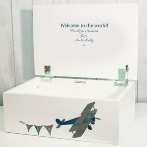Aeroplane Keepsake Box - storage boxes & trunks