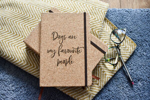 Personalised 'Dogs Are My Favourite People' Notebook