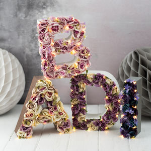 Handmade Flower Letter Light - children's room