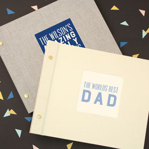 Personalised Family Typography Photo Album - albums & guest books