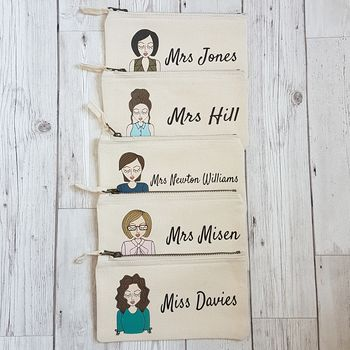 Miss Smart Personalised Teacher Pencil Case