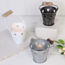 Wedding Table Heart Tea Light Bucket