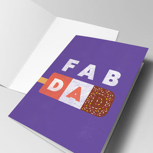 'Fab Dad' Father's Day Card