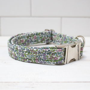 Thirzah Liberty Fabric Dog Collar - dog collars
