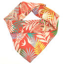 Tropical Printed Silk Scarf For Women