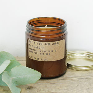 P.F Candle Co. No. 21 Golden Coast Soy Candle - candles & home fragrance