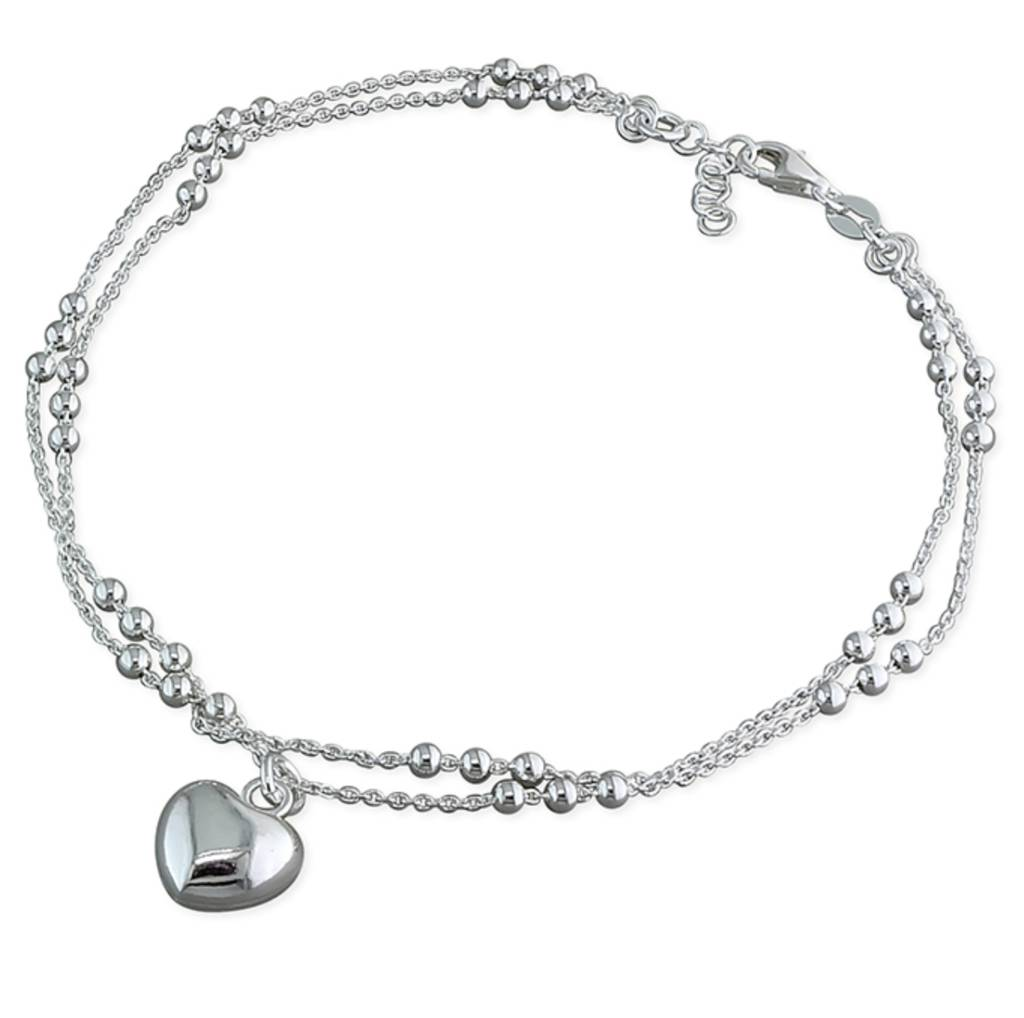 chain and silver bracelet bead anklet sterling ss ankle products