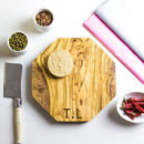 Personalised Initialled Cheese Board