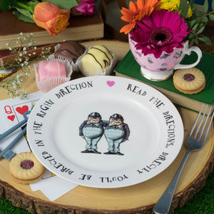 Tweedledee And Tweedledum Alice In Wonderland Tea Plate - crockery & chinaware