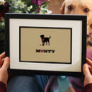 'Dog Lover Gift' Personalised Dog Breed Print