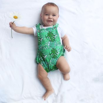 Tropical Print Summer Baby Bubble Romper