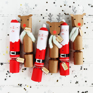 Christmas Santa And Reindeer Crackers - crackers