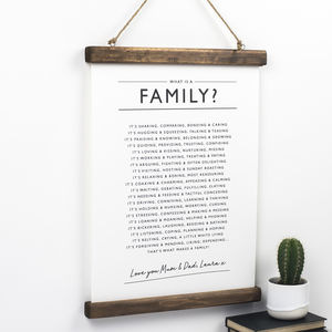 Family Poem Print - gifts for families