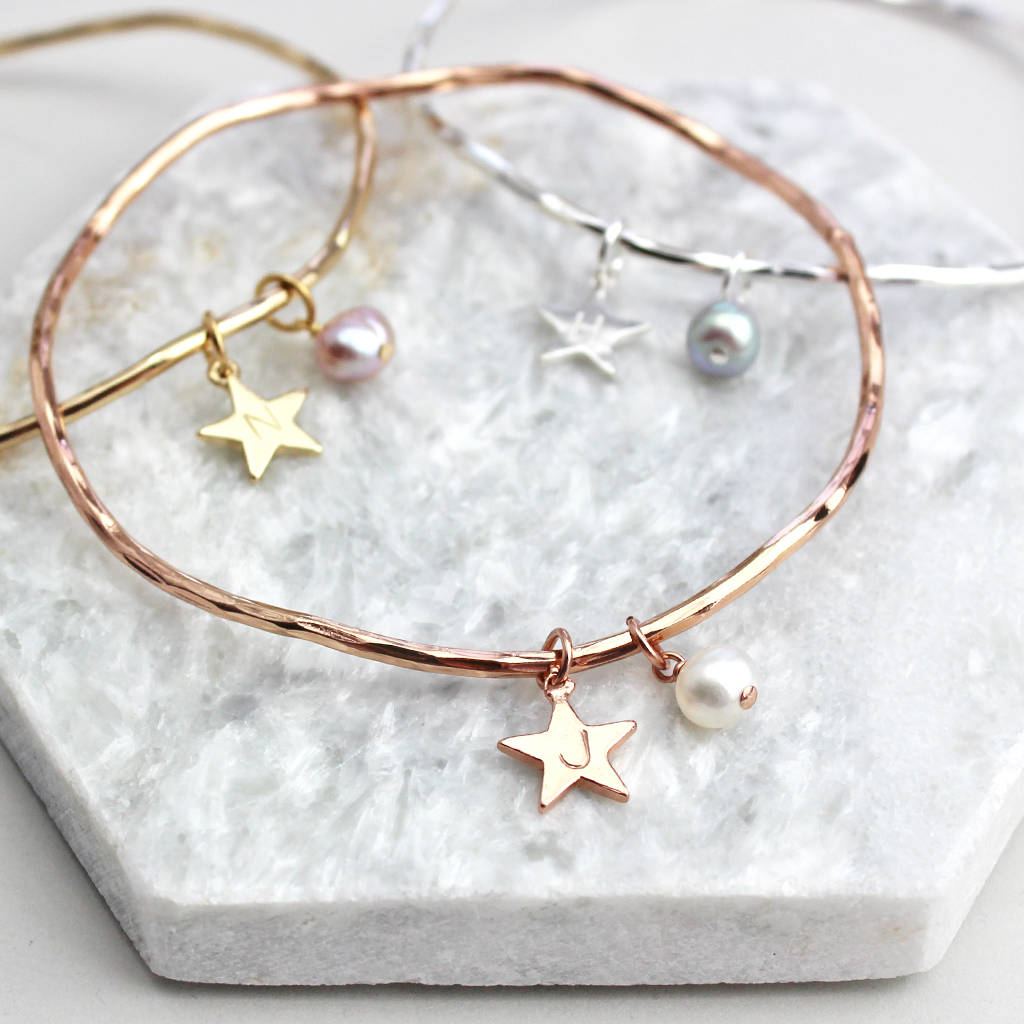 charm create your gold original own bangles rose and boutique product bloom by personalised bangle bloomboutique birthstone amelie disk