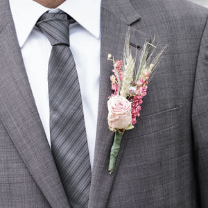 Three Pink Buttonholes
