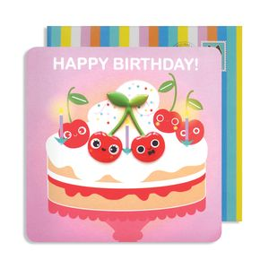 Birthday Cherries Jelly Magnet Card