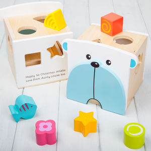Personalised Bear Shape Sorter Toy - toys & games