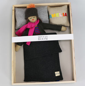 Handmade Doll With Clothes And Bedding