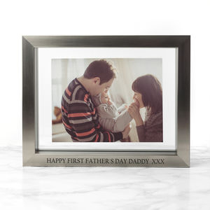 First Father's Day Personalised Frame