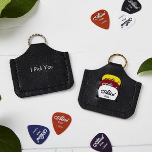 Personalised Plectrum Holder Keyring - plectrums