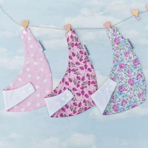 Baby Gift Set Of Pink Dribble Bibs