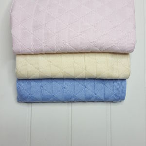 French Designer Baby Knit Blanket - decorative accessories