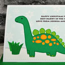 Large A5 size Dinosaur Christmas Card by Jenny Arnott Cards & Gifts