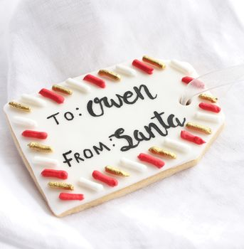 Personalised Christmas Gift Tag Biscuit