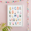 Personalised Illustrated Alphabet Chart