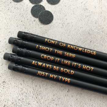 Funny Graphic Designer Pencil Set: Just My Type