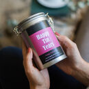 Personalised 10th Anniversary Tea Gift In Tin