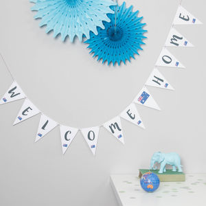 Welcome Home Bunting - new in home