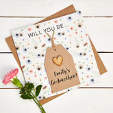 Will You Be My Godmother Personalised Card - cards