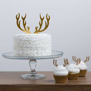 Christmas Antler Cake Topper Set