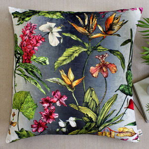 Tropical Hothouse Botanical Floor Lawn Cushion