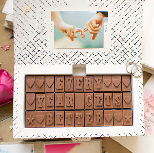 Chocolate Anniversary Card - chocolates