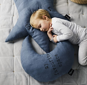 Large 'My Favourite Space' Moon Cushion