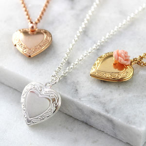Vintage Heart Locket Necklace - necklaces & pendants