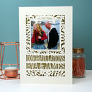 Engagement Or Wedding Papercut Keepsake Photo Card