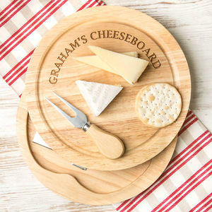 Personalised Premium Quality Cheese Board Set - winter sale