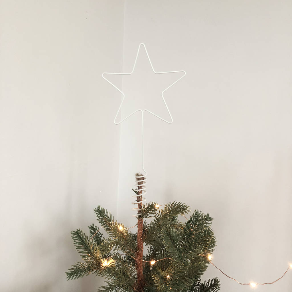 Letter Christmas Tree Topper: Christmas Star Wire Tree Topper By The Letter Loft