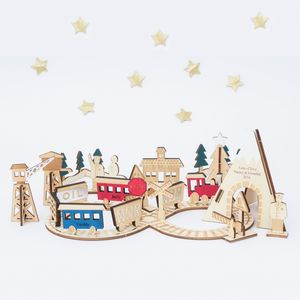 Personalised Train Advent Calendar - view all decorations